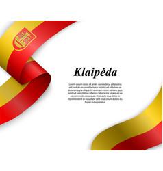 waving ribbon with flag city vector image