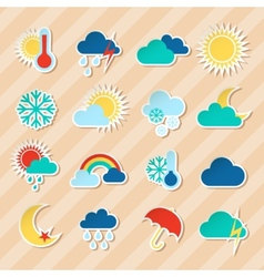 Weather stickers set vector