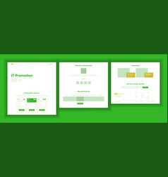 Website design template business landing vector