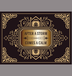 Western card with floral elements vector