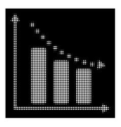 white halftone negative trend icon vector image