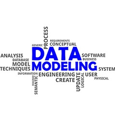 word cloud data modeling vector image