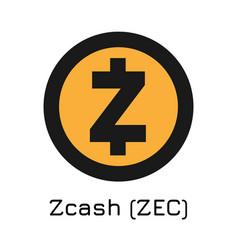 zcash zec crypto coin icon vector image