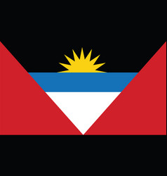 antigua and barbuda flag for independence day and vector image