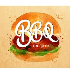 Burger BBQ kraft vector image
