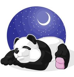 Panda Sleeping vector image vector image