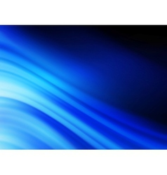 Blue smooth twist light lines background EPS 10 vector image
