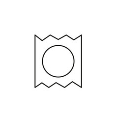 condom pack icon vector image