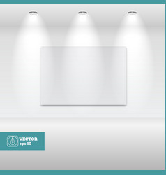 Empty White frame in art gallery vector image