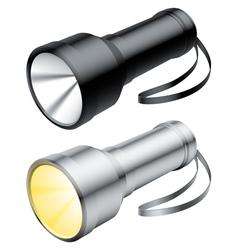 flashlight vector image vector image