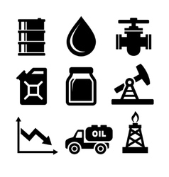 Oil Icons Set vector image vector image
