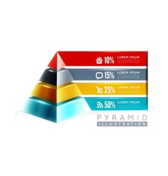 Pyramid infographic design vector image vector image