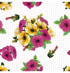 seamless pattern petunias vector image vector image