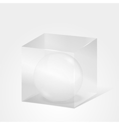 Sphere in Cube vector image vector image