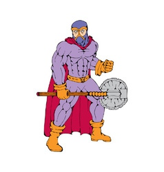 executioner superhero with axe vector image