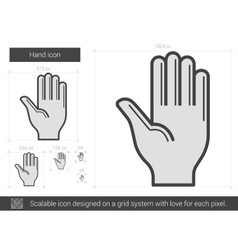 Hand line icon vector