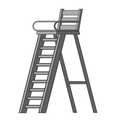Tennis tower for judge icon gray monochrome style vector