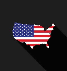 USA America flag map flat design icon vector image vector image