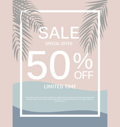 abstract designs sale banner template with frame vector image