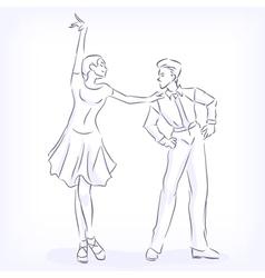 Couple dances latin fast ballroom dances vector image