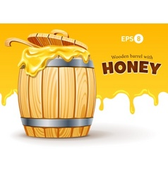 wooden barrel full of sweet vector image vector image