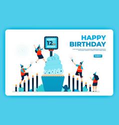12th birthday with health protocol happy vector