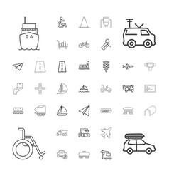 37 transportation icons vector