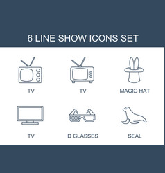 6 show icons vector