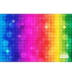 Abstract rainbow background with circles vector