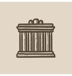 Acropolis of athens sketch icon vector