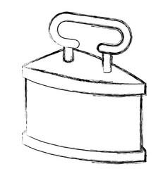 antique iron clothes icon vector image