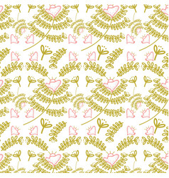 Beautiful leaves pattern background vector