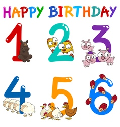 Birthday greeting card collection vector