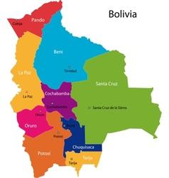 Bolivia map vector image
