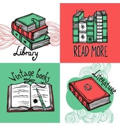 Books Design Concept Set vector image