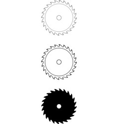 Circular-saw-blade-24tooth vector