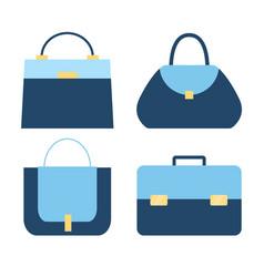 collection modern stylish fashionable woman vector image