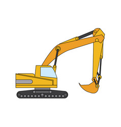 color image cartoon construction heavy machine vector image
