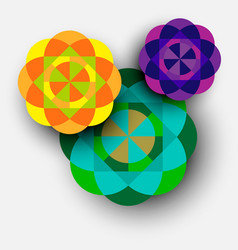 Colorful kaleidoscope flowers vector