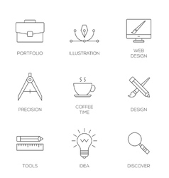 Creative design process concept vector image
