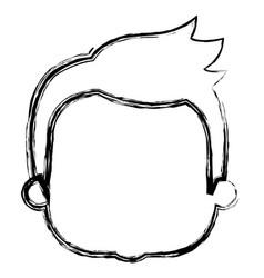 Cute boy head avatar character vector