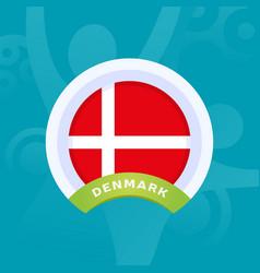 denmark flag european football 2020 tournament vector image