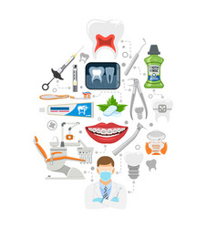 Dental services infographics vector