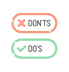 do and dont check marks vector image