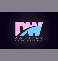 Dw alphabet letter join joined letter logo design vector