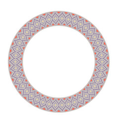 Eastern islamic colorful ornament round circle vector