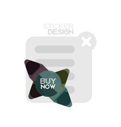 flat design triangle arrow shape geometric sticker vector image