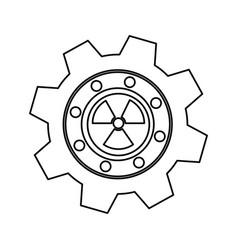 Gear industrial piece vector