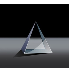 glass pyramid vector image
