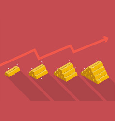 gold price with graph up vector image